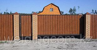 Металлические ворота консольные