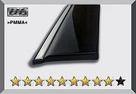 Ветровики (дефлекторы окон) Lexus ES 2012+ с железным молдингом и креплениями OEM