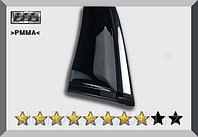 Ветровики (дефлекторы окон) Nissan X-TRAIL/NISSAN Rogue (T32) 2014+ с хромированным молдингом OEM