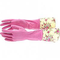 Перчатки хозяйственные латексные с манжетой, S Elfe, фото 1