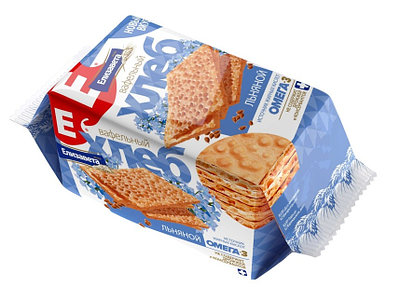 Хлебцы хрустящие «Вафельный хлеб «Елизавета» льняной»