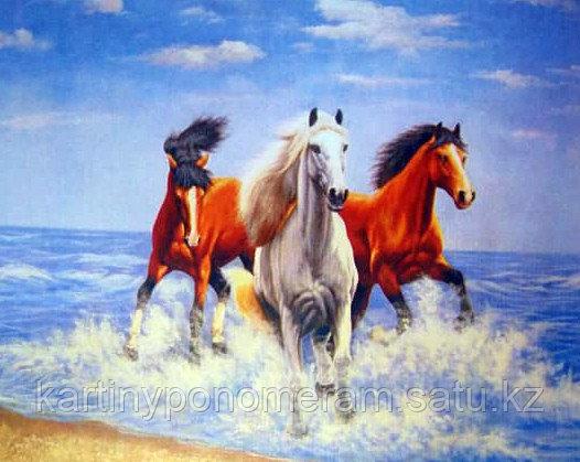 "Картина по номерам ""Лошадки у моря"""