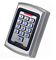 Цифровая антивандальная кодонаборная панель KC82 RFID (EMID, Mifare), металлическая, накладная, кнопочная
