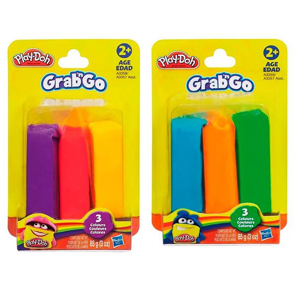 Игрушка Hasbro Play-Doh (Плей-До) Игровой набор ПЛАСТИЛИНА ИЗ 3 ЦВЕТОВ, блистер, стрип лента в комплекте на 12 шт