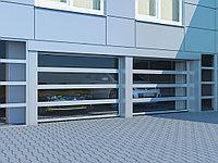 Промышленные секционные ворота с панорамным остеклением ISD02, фото 1