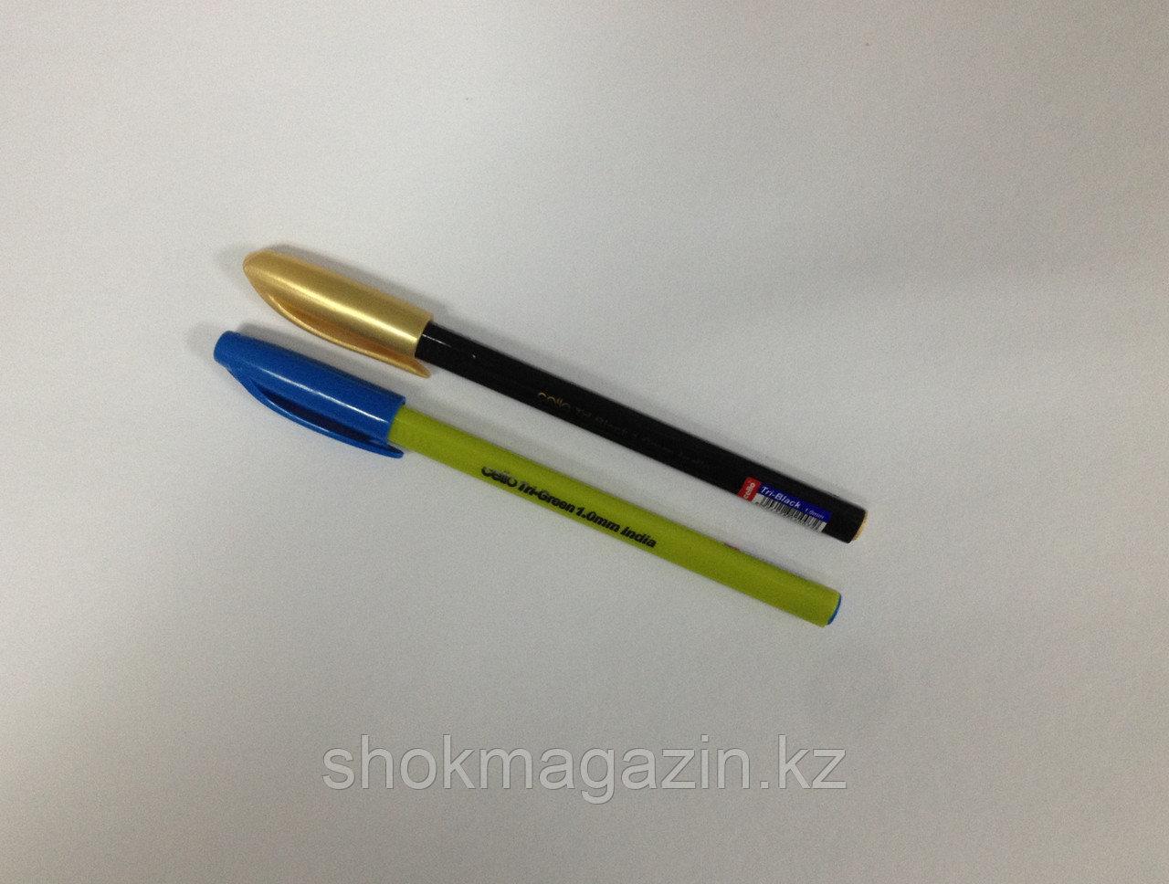 Ручка шариковая синяя Cello Tri Black