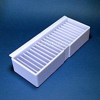 Лоток для картотеки из оргстекла 20 секционный с боковой планкой 11,5*6*30