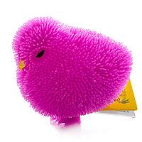 Игрушка Фигурка цыпленок с резиновым ворсом с подсветкой  в ассортименте
