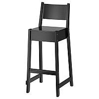 Стул барный НОРРОКЕР 74 см черный ИКЕА, IKEA, фото 1