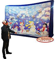 Снежки - надувной тир