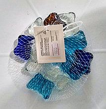 """Декоративные, стеклянные камушки, полупрозрачные, разноцветные """"Бабочки""""."""