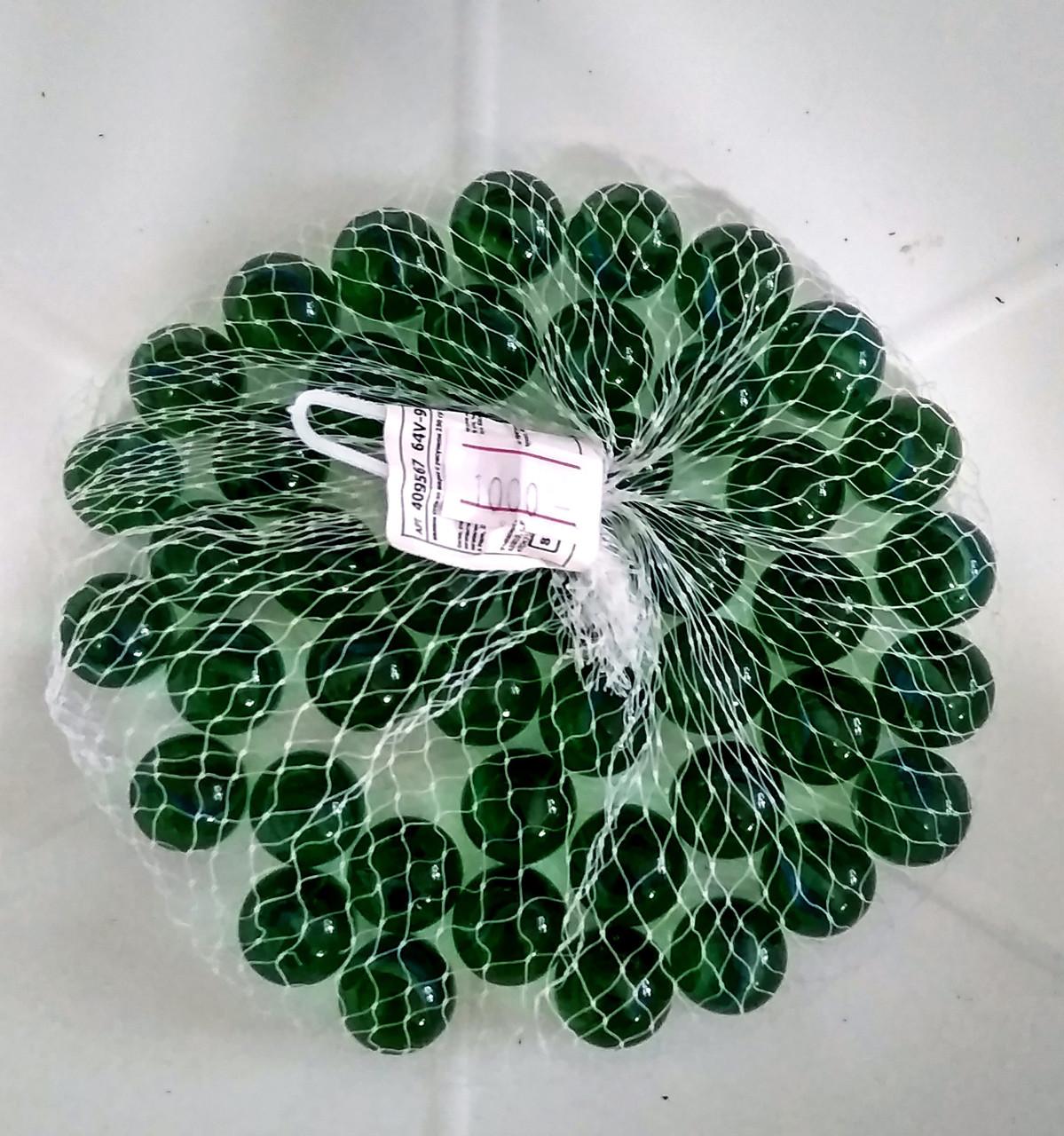 """Декоративные, стеклянные камушки, полупрозрачные, зеленые """"Шарики""""."""