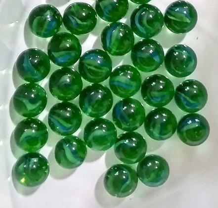"""Декоративные, стеклянные камушки, полупрозрачные, зеленые """"Шарики""""., фото 2"""