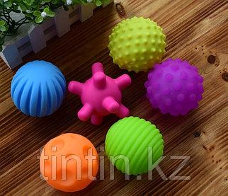 Набор из 6 текстурных мячей пищалок