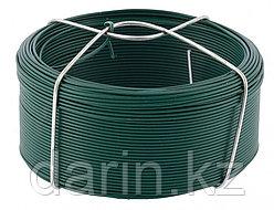 Проволока с ПВХ покрытием, зеленая 1.2 мм, длина 50 м Сибртех