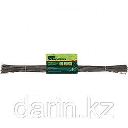 Проволока стальная в прутках 400 мм х 100 шт, вязальная, термообработанная 2 мм Сибртех