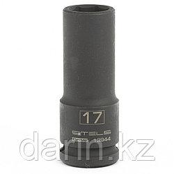 Головка ударная удлиненная шестигранная, 17 мм, 1/2, CrMo Stels