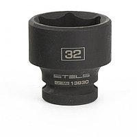 Головка ударная шестигранная, 32 мм, 1/2, CrMo Stels, фото 1