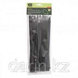 Хомуты, 250 x 4.8 мм, пластиковые, черные, 100 шт Сибртех