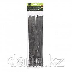 Хомуты, 350 x 4.8 мм, пластиковые, черные, 50 шт Сибртех