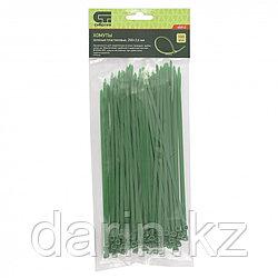 Хомуты, 200 x 3.6 мм, пластиковые, зеленые, 100 шт Сибртех
