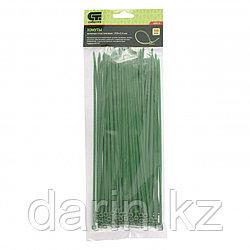 Хомуты, 250 x 3.6 мм, пластиковые, зеленые, 100 шт Сибртех