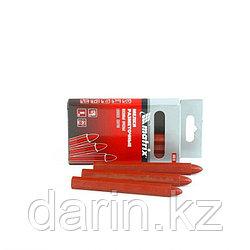 Мелки разметочные восковые красные, 120 мм, коробка 6 шт Matrix