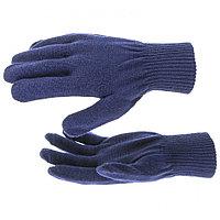 Перчатки трикотажные, акрил, синий, двойная манжета Россия Сибртех, фото 1