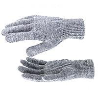 Перчатки трикотажные, акрил, серое мулине, двойная манжета Россия Сибртех, фото 1