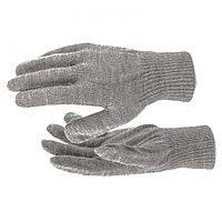 Перчатки трикотажные, акрил, коричневый, двойная манжета Россия Сибртех, фото 1