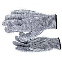 Перчатки трикотажные, акрил, серое мулине, оверлок Россия Сибртех, фото 1