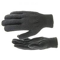 Перчатки трикотажные, акрил, черный, оверлок Россия Сибртех, фото 1