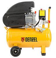 Компрессор масляный PC 1/24-206, коаксиальный, производительность 206 л/м, мощность 1,5 кВт Denzel