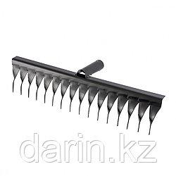 Грабли стальные, 420 мм, 16 витых зубьев, без черенка, Россия, Сибртех
