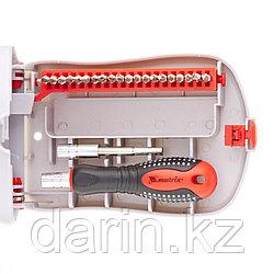 Отвертка для точных работ с насадками Fusion, 22 предмета, в пластиковом пенале Matrix
