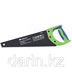 """Ножовка по дереву """"Зубец"""", 350 мм, 7-8 TPI, каленый зуб 2D, защитное покрытие, двухкомпонентная рукоятка"""