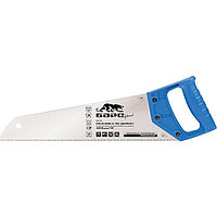 """Ножовка по дереву, 400 мм/16"""", 7-8 TPI, короткий каленый зуб 2D, пластиковая цельнолитая рукоятка Барс"""