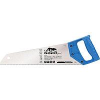 """Ножовка по дереву, 450 мм/18"""", 7-8 TPI, короткий каленый зуб 2D, пластиковая цельнолитая рукоятка Барс"""