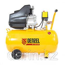 Компрессор пневматический, 1.5 кВт, 206 л/мин, 50 л Denzel