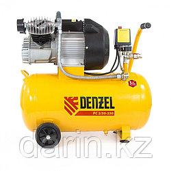 Компрессор пневматический, 2.2 кВт, 350 л/мин, 50 л Denzel