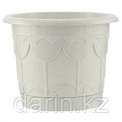 Горшок Тюльпан с поддоном, мрамор, 1,4 л Palisad