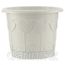 Горшок Тюльпан с поддоном, мрамор, 2,9 л. PALISAD