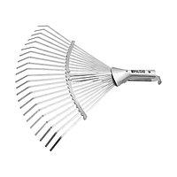 Грабли веерные стальные, 280-450 мм, 22 плоских зуба, оцинкованные,раздвижные, без черенка Palisad
