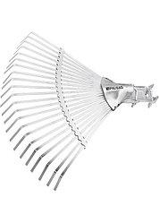 Грабли веерные стальные, 380 мм, 22 плоских зуба, регулируемая тулейка, без черенка, Palisad