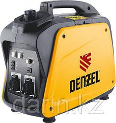 Генератор инверторный GT-2100i, X-Pro 2.1 кВт, 220 В, бак 4.1 л, ручной старт Denzel