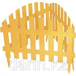 "Забор декоративный ""Винтаж"", 28 х 300 см, желтый, Россия, Palisad"