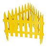 """Забор декоративный """"Рейка"""", 28 х 300 см, желтый, Россия, Palisad"""