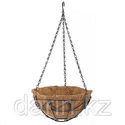 Подвесное кашпо с орнаментом, 25 см, с кокосовой корзиной Palisad