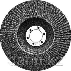 Круг лепестковый торцевой, конический, Р 24, 180 х 22.2 мм Сибртех
