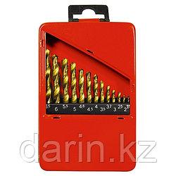 Набор нитридтитан. сверл по металлу, 1.5-6.5 мм (через 0.5 мм+3.2мм; 4.8 мм), НSS, 13 шт Matrix